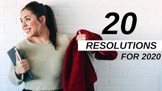 20 RESOLUTION IDEAS FOR 2020