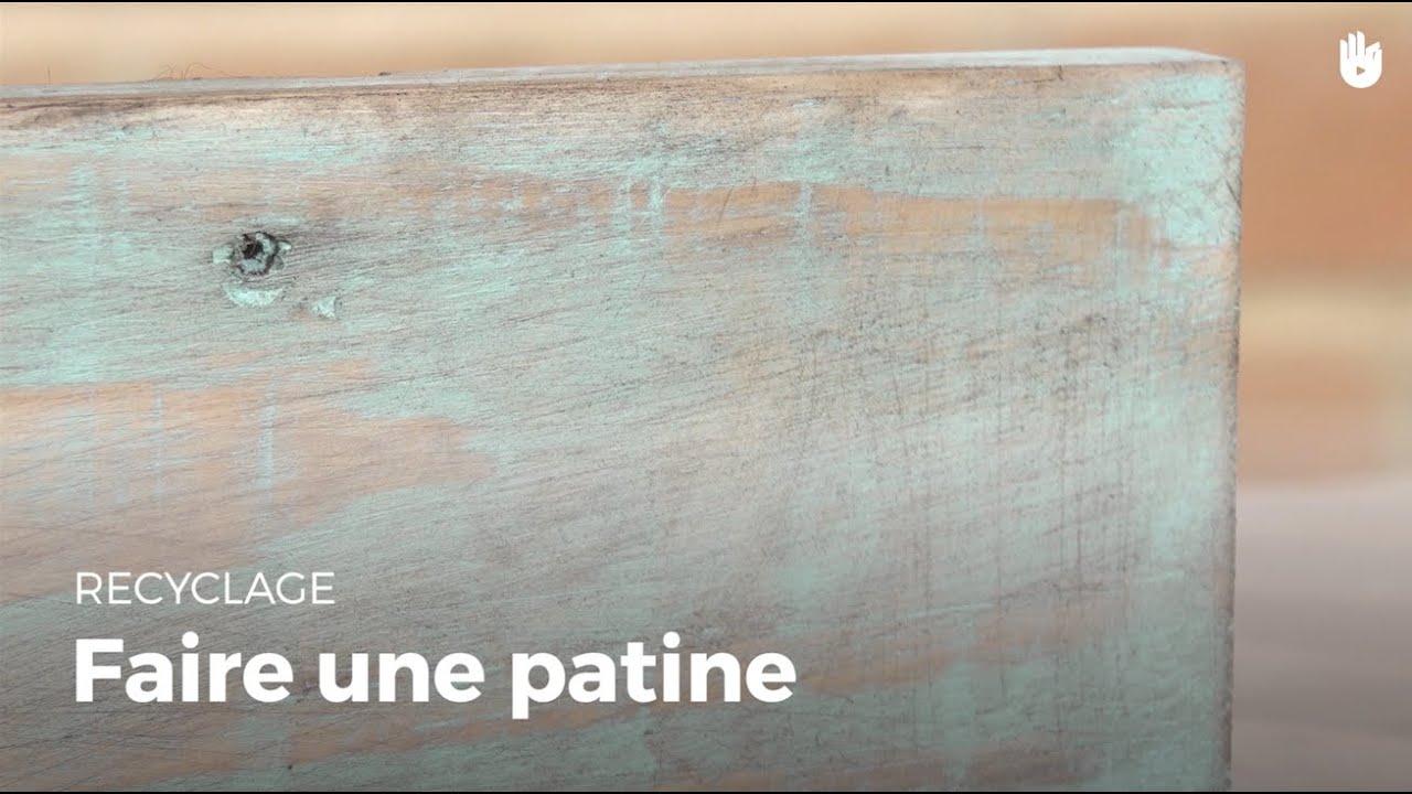 Savoir Faire Une Patine Sur Du Bois De Palette Recycler Youtube
