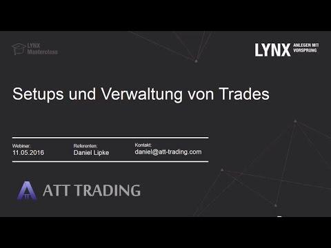 LYNX - Setups und die Verwaltung von Trades (ATT Trading/ 11.05.2016)