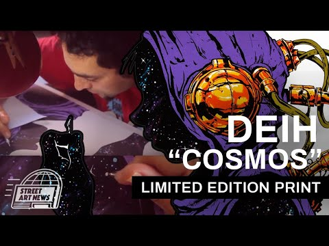 """Deih """"Cosmos"""" Limited Edition Hand-Painted Screen-Print"""