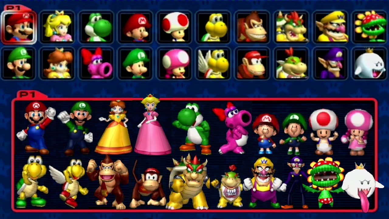 Mario Kart Double Dash All Characters Youtube