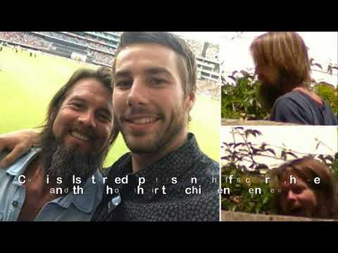 Ben Cousins smiles for a selfie at Perth Stadium