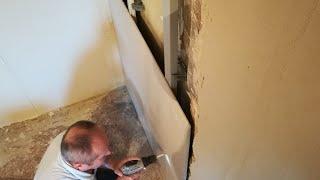Стены из песка. Бюджетный ремонт спальной комнаты. Штукатурка кривых стен под маяк