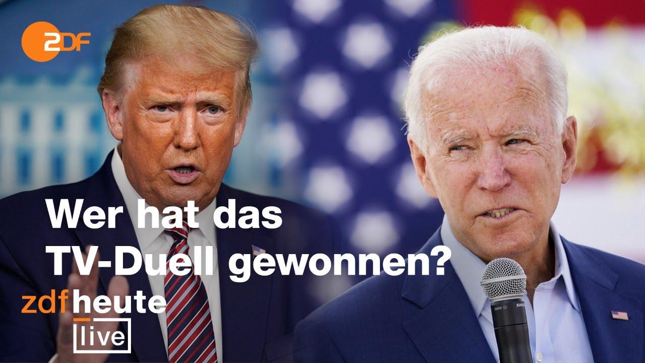 Analyse zum TV-Duell Trump vs. Biden  | ZDFheute live