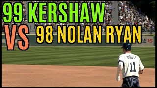 MLB 15 The Show Diamond Dynasty 99 Kershaw VS 98 Nolan Ryan In Close Game!