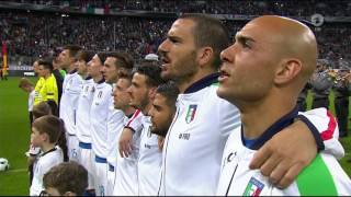 Italienische und deutsche Hymne - Fußball Testspiel Deutschland-Italien 29.03.2016