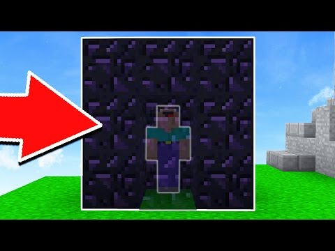 EXTREME MINECRAFT OBSIDIAN TRAP! (BED WARS TROLLING)