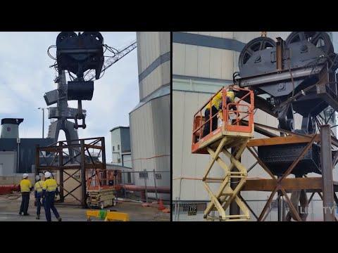 Garden Island Hammerhead Crane Deconstruction Documentary