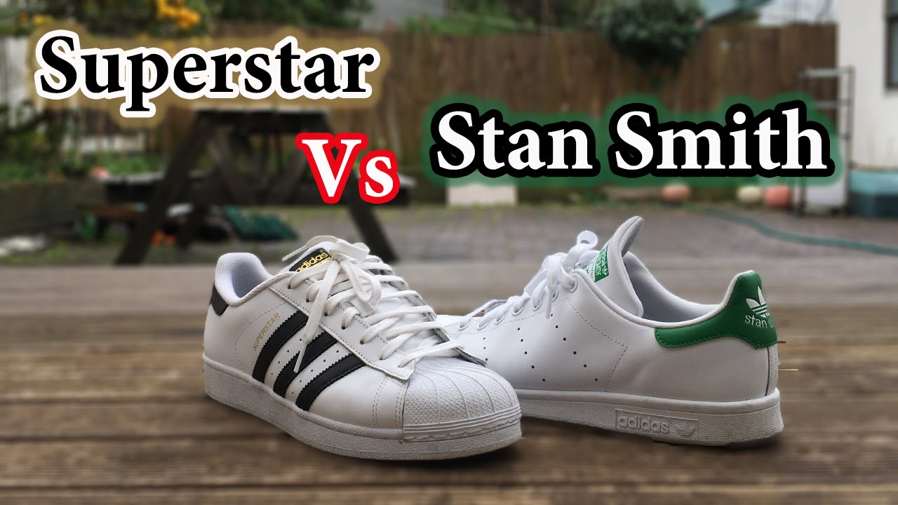 reputable site 25660 4c23f Superstar vs Stan Smith   Adidas Comparison + On Feet - YouTube