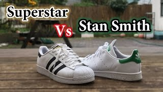 Adaptado esponja Escalofriante  Superstar vs Stan Smith | Adidas Comparison + On Feet - YouTube