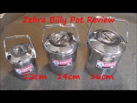 Billy Pot Comparison 12cm 14cm 16cm