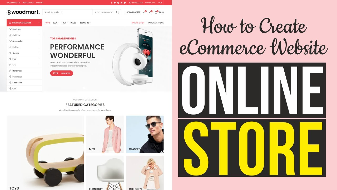 How to Create an eCommerce Website with WordPress - ONLINE STORE 2020 - WoodMart Theme Tutorial