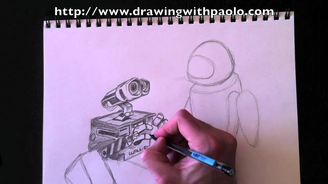 Drawing Wall E Eve With Paolo Morrone