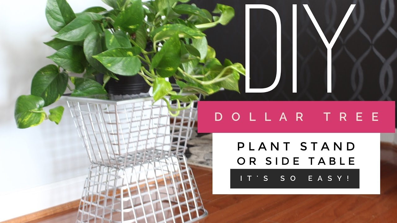 How To Create A Side Tableplant Stand Using Dollar Tree Supplies