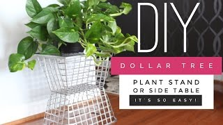 How To Create A Side Table/Plant Stand Using Dollar Tree Supplies