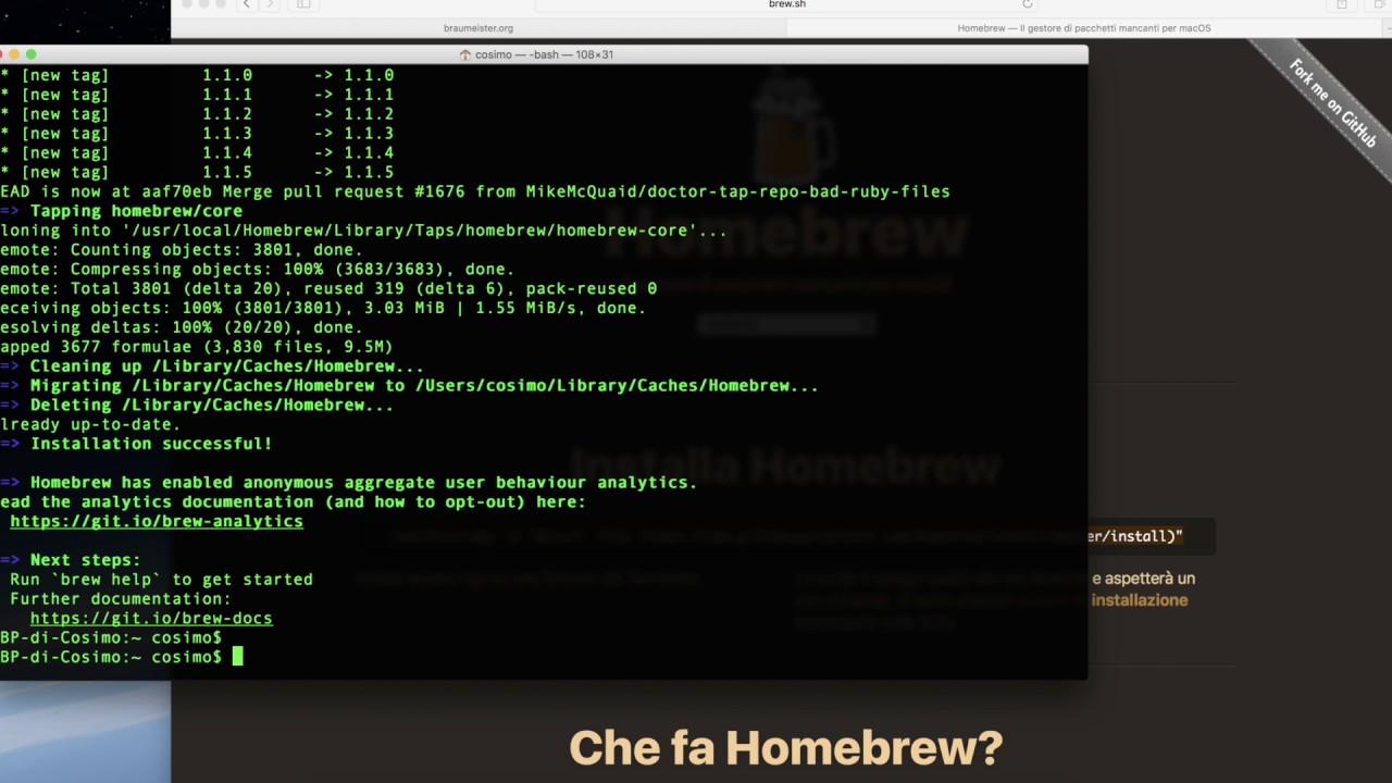 Installing Node js with Homebrew