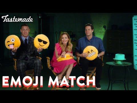 Emoji Match With John Cena, Leslie Mann & Ike Barinholtz  Tastemade
