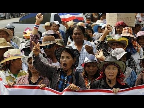 THAI GOVERNMENT RICE PROGRAM a HUGE FAILURE - TONS of UNSOLD RICE and UNPAID FARMERS