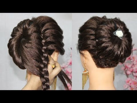 New bun hairstyle using donut bun with trick || beautiful hairstyle || prom hairstyles || hairstyle thumbnail