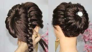 New bun hairstyle using donut bun with trick || beautiful hairstyle || prom hairstyles || hairstyle