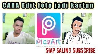 cara edit foto jadi kartun di PicsArt #editfoto #picsart #kinemster