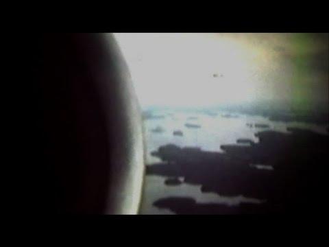 Finnair flight to Varkaus via Savonlinna.old  y.1985 mute film.