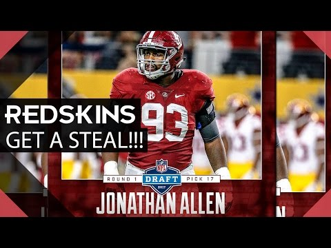 Redskins Get A Steal in The Draft and Select Jonathan Allen