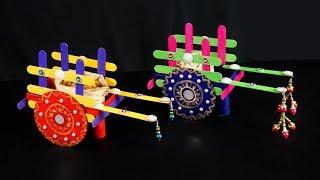 DIY BULLOCK CART | How to make Colorful Bullock Cart | Colorful Ox Cart