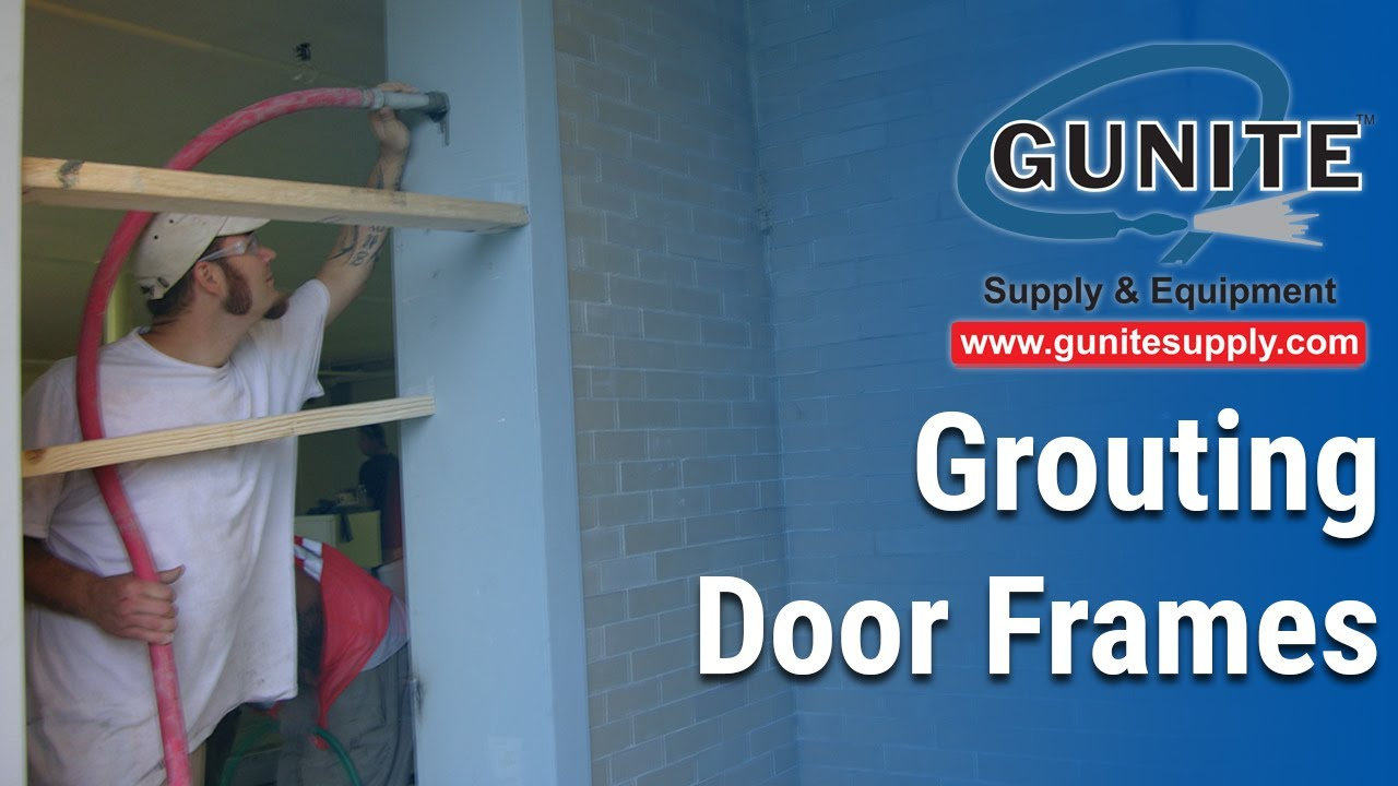 Grouting door frames Grout pump for door Jambs AIRPLACO Handy-Grout model HG-9 grout pumps - YouTube & Grouting door frames Grout pump for door Jambs AIRPLACO Handy ...