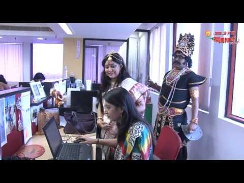 Mahishasura & Devi Durga at the Radio Mirchi Studio