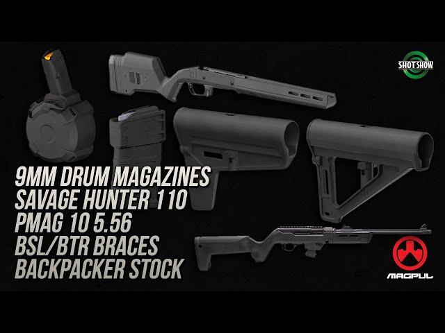 Magpul 9mm Drum Mags, Savage Hunter, PMAG 10 5.56, BSL/BTR Braces, Backpacker Stock