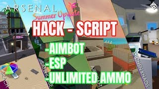 ROBLOX - ARSENAL HACK/SCRIPT - ESP,AIMBOT,UNLIMITED AMMO,AUTO HEADSHOTS,NO RECOIL,NO SPREAD