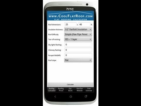 Awesome Free Roofing Calculator App For IPhone U0026 Android   CoolFlatRoof.com (HD)