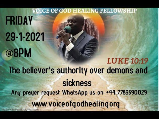 """""""THE BELIEVER'S AUTHORITY OVER DEMONS DEVILS AND SICKNESS"""" Pastor Ben Bienvenue"""