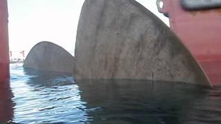 big ship propeller broken