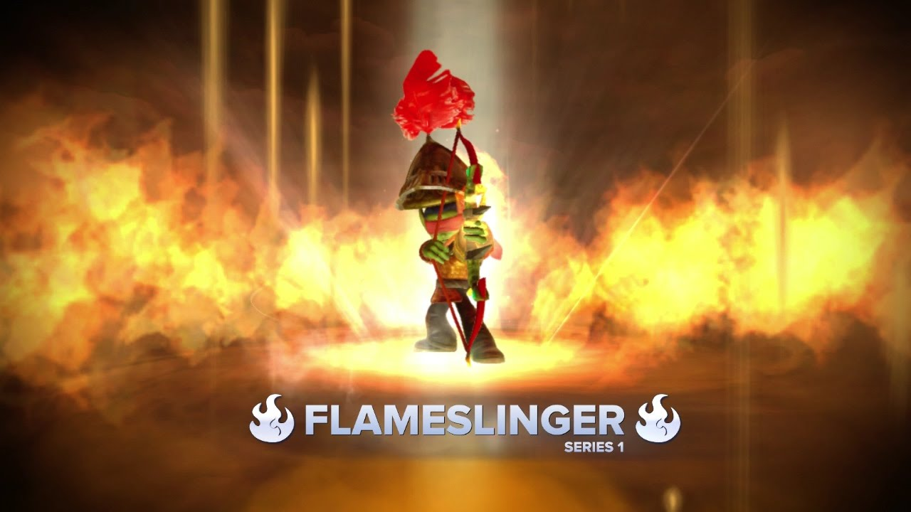 flameslinger series 1 in action skylanders gameplay