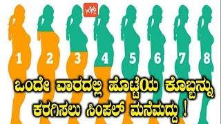 ಒಂದೇ ವಾರದಲ್ಲಿ ಹೊಟ್ಟೆಯ ಕೊಬ್ಬನ್ನು ಕರಗಿಸಲು ಸಿಂಪಲ್ ಮನೆಮದ್ದು ! | Weight Loss Tips In 1 Week Kannada