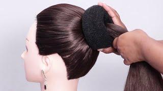 Braided Bun Hairstyle || Easy Lace Braid Bun || Juda Hairstyle || simple bun hairstyle  for party