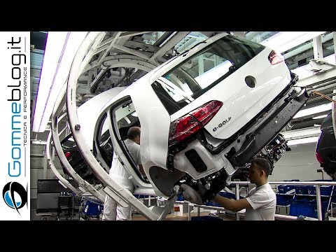 CAR FACTORY: VOLKSWAGEN Golf Production Line 2017 - HOW IT'S