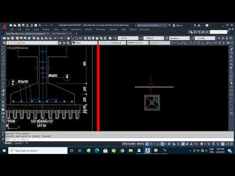 AutoCAD kết cấu - Bài 1:Triển khai bản vẽ mặt bằng và chi tiết móng đơn
