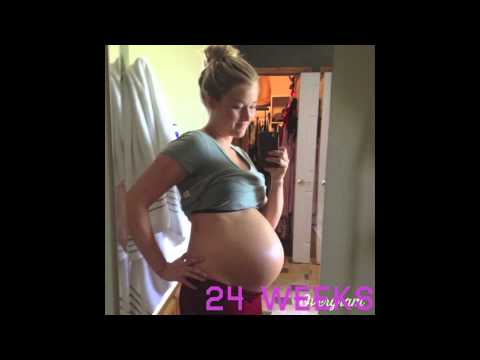 Twin Pregnancy Time Lapse - YouTube