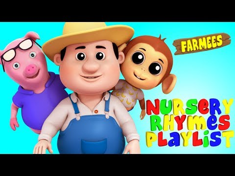 Non Stop Kids Nursery Rhymes Playlist | Songs For Kids | Rhymes Compilation by Farmees
