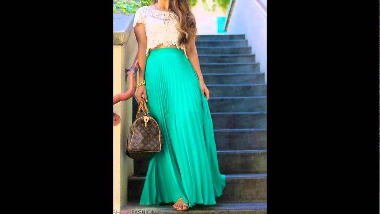 Moda en faldas largas para los amantes de la moda youtube - Modelos de faldas de moda ...
