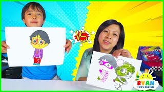 - 3 Marker Challenge with Ryan vs Mommy