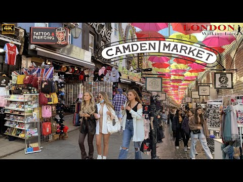 London Walking Tour | CAMDEN MARKET LONDON | London reopen 2021