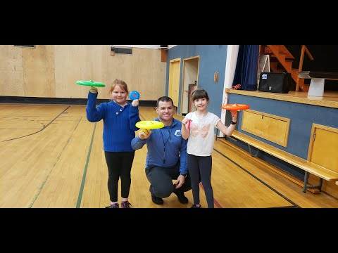 Frisbee Workshop Highlights from Silverthorne Elementary School