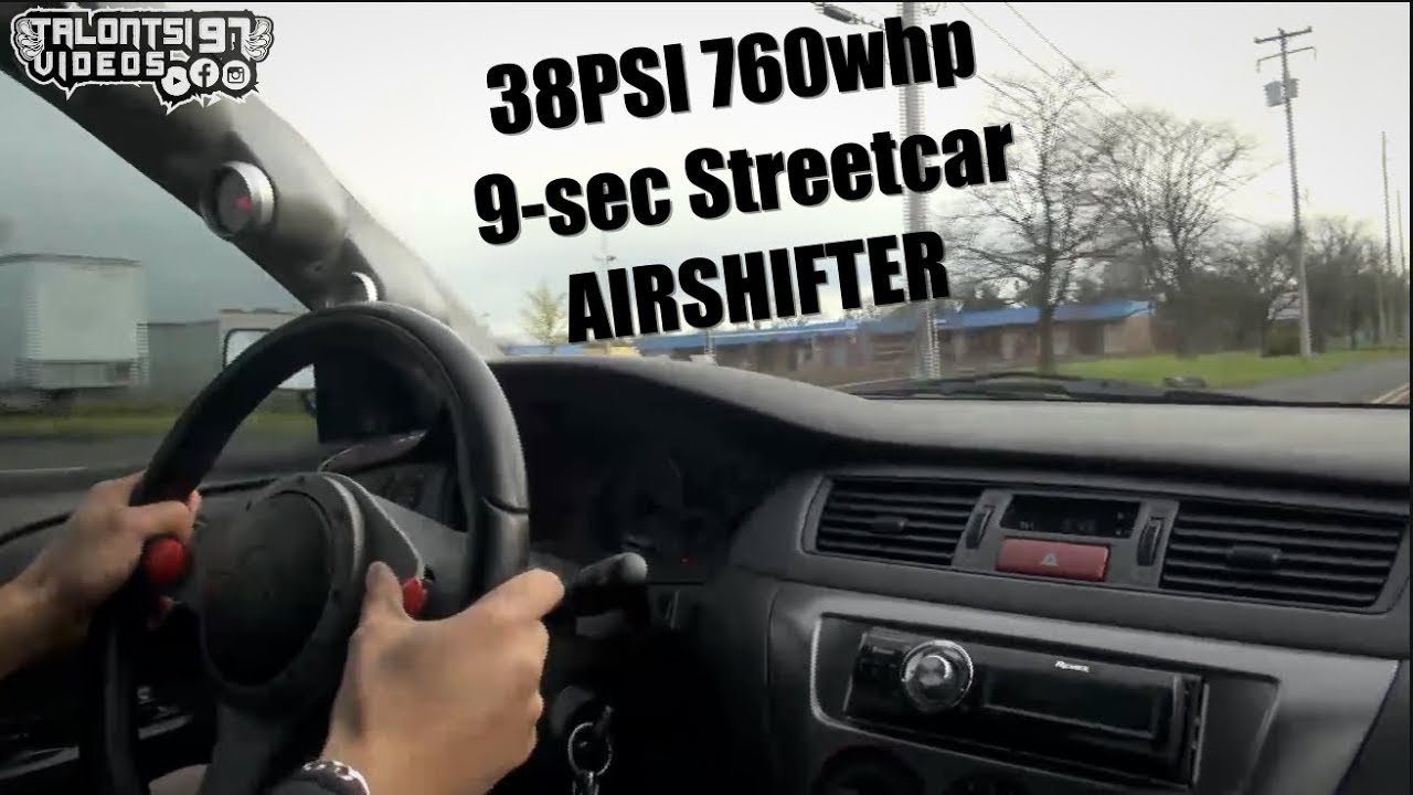 The Original Airshifter Evo Video! 9-sec 760whp 38psi Streetcar