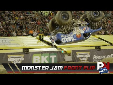 The First Front Flip In Monster Jam History Has Been Done