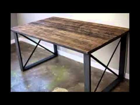 Wood And Metal Dining Table YouTube