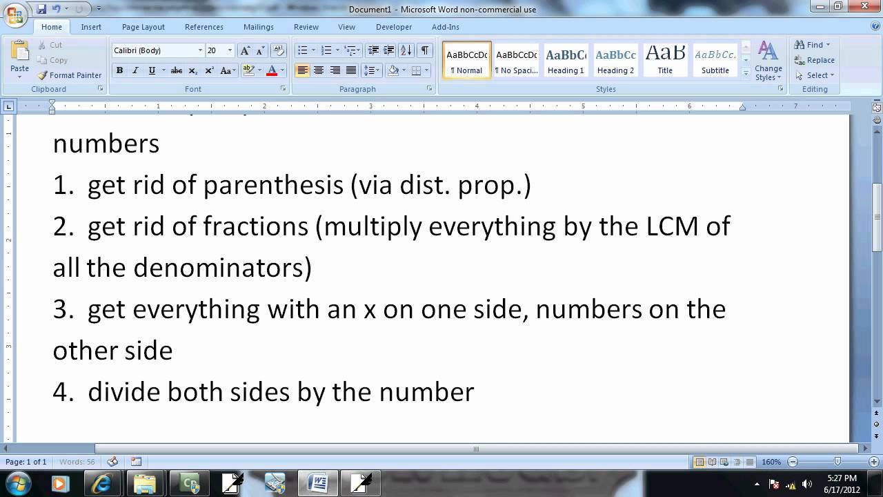 Elementary Algebra - Practice Final Exam 2 - Problem 10 - YouTube